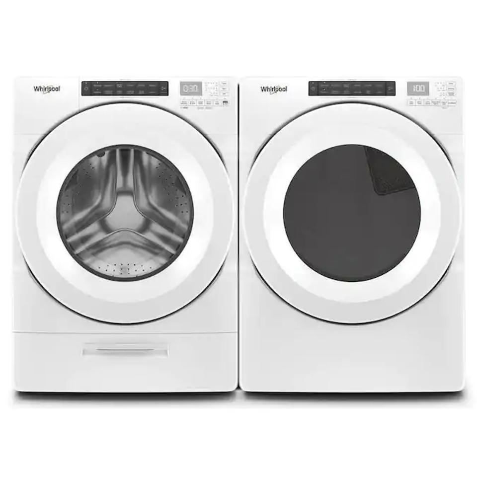 Whirlpool High-Efficiency Stackable Front-Load Washer & Electric Dryer Set