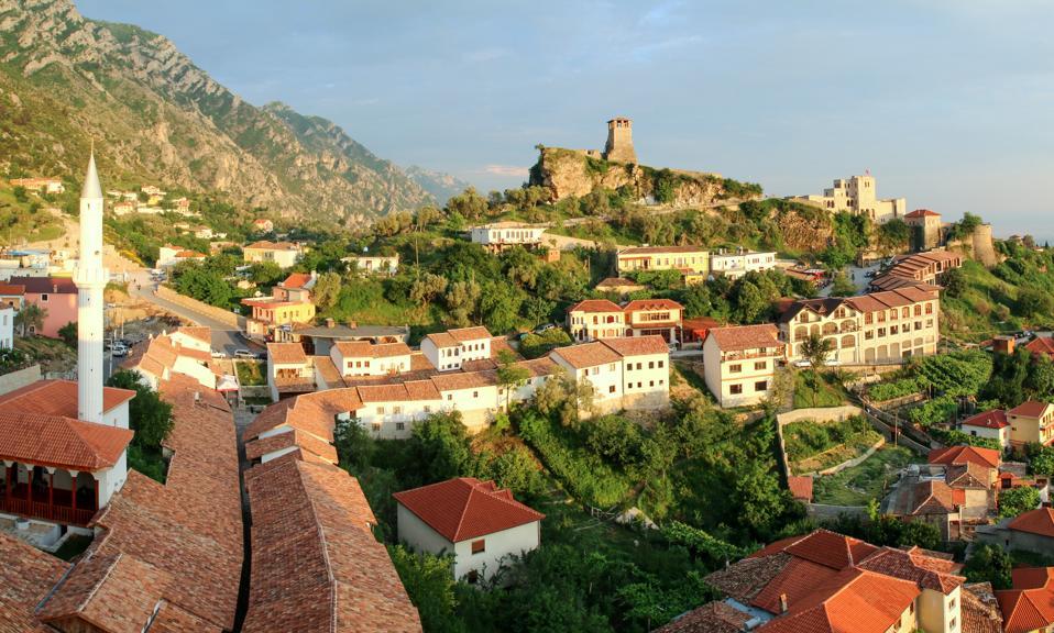 The old town of Kruje (Krujë, Kruja), Albania, Europe
