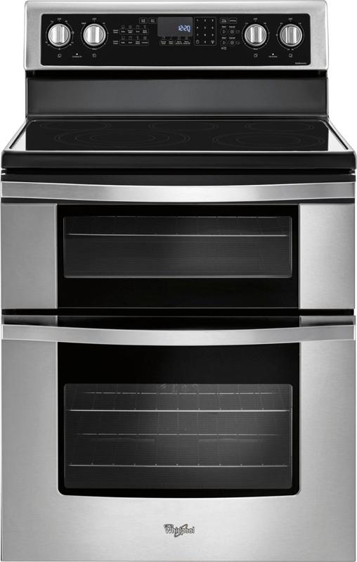 Whirlpool 6.7 Cu. Ft. Self-Cleaning Freestanding Double Oven Electric Convection Range