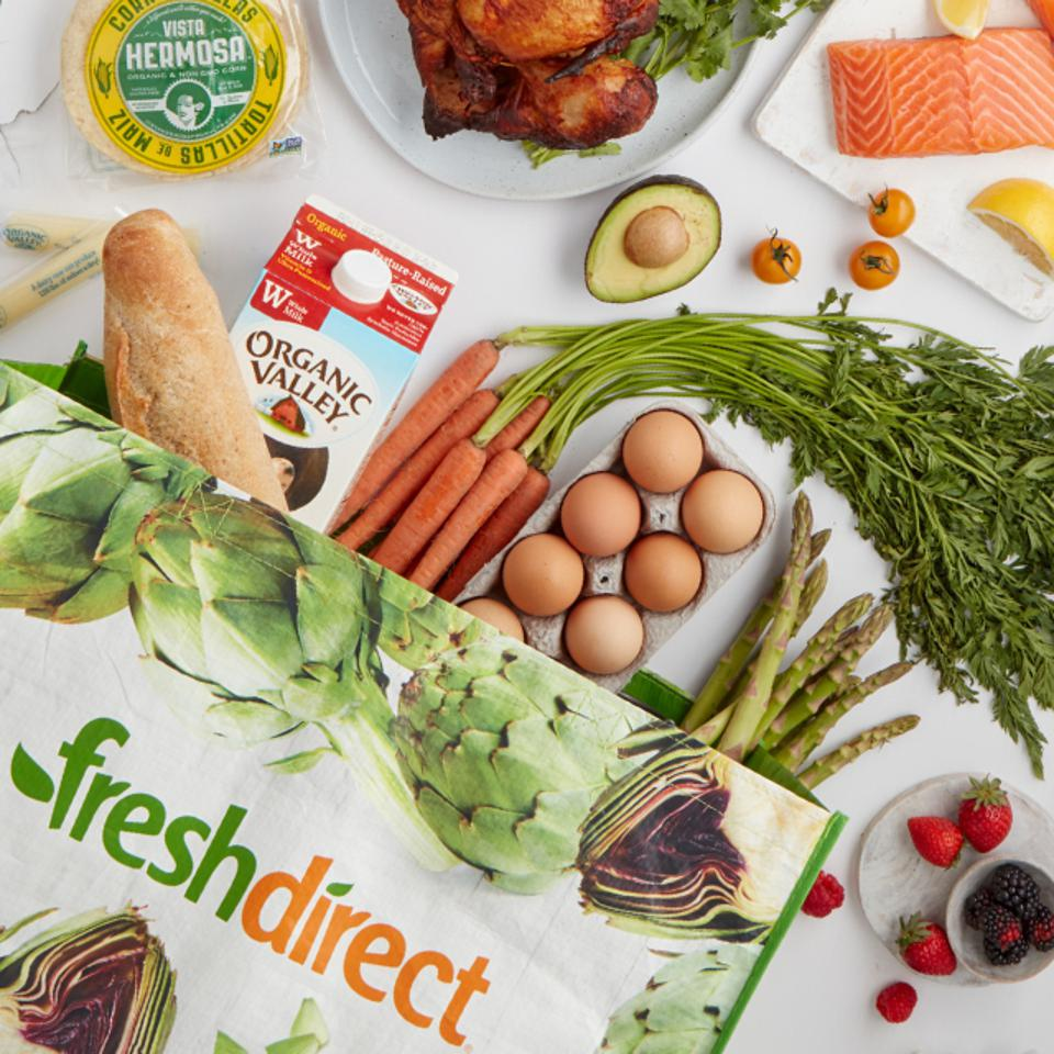 groceries from FreshDirect
