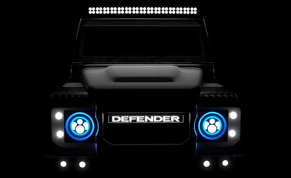 The electric Defender will be powered by a Tesla drivetrain.