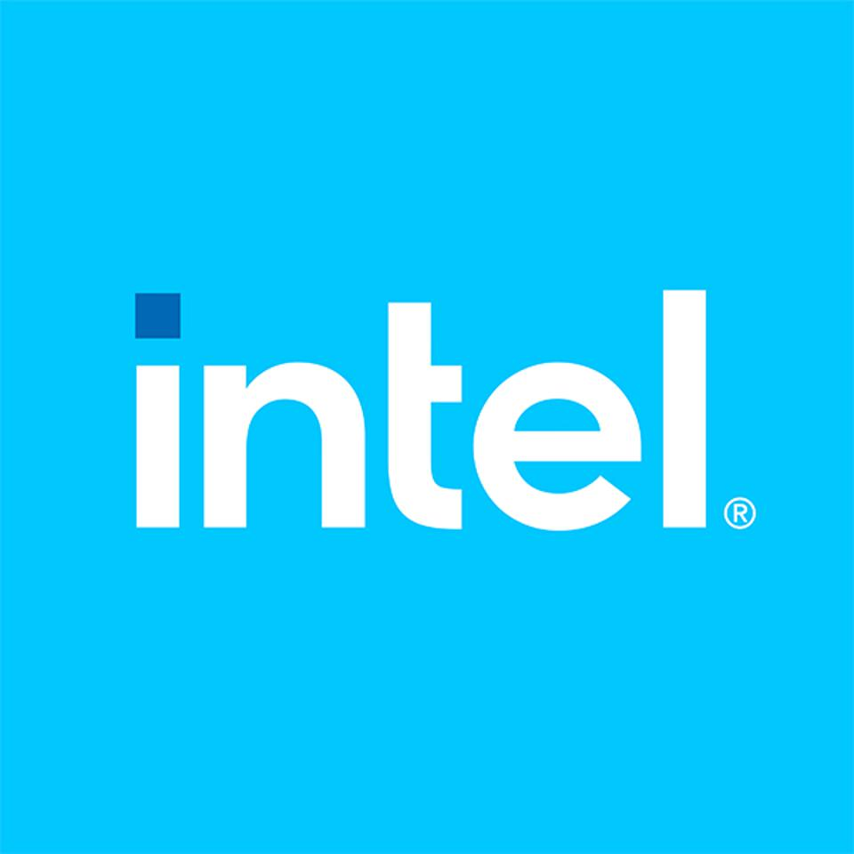 The dot on the ″i″ in Intel's new logo symbolizes the company's semiconductor history.