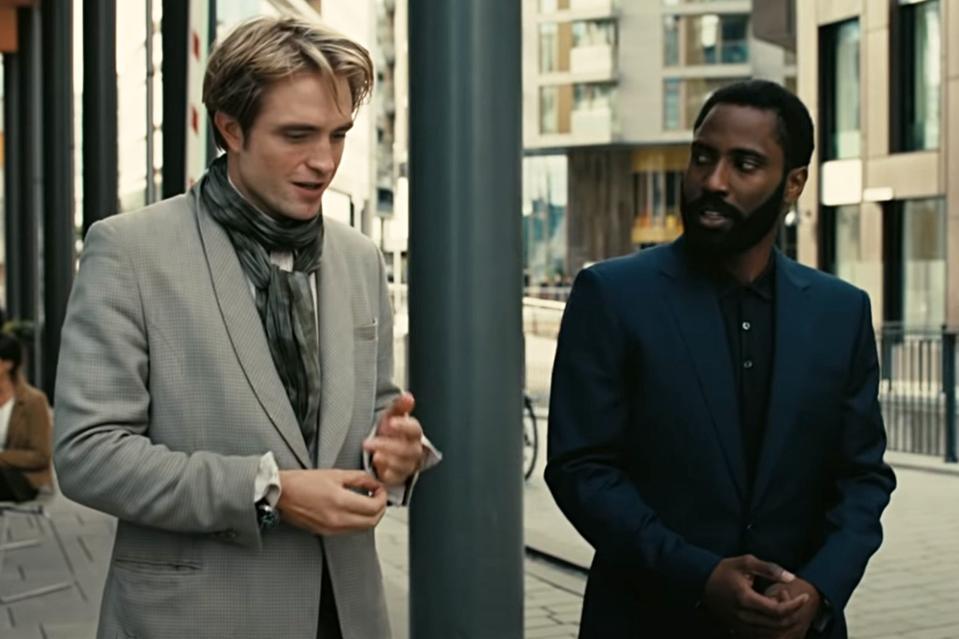 John David Washington and Robert Pattinson discuss their plans in Christopher Nolan's 'Tenet.″