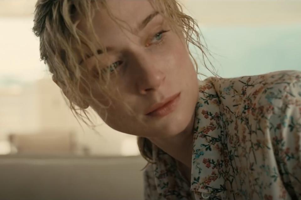 Elizabeth Debicki plays the villain's unhappy wife in 'Tenet.'