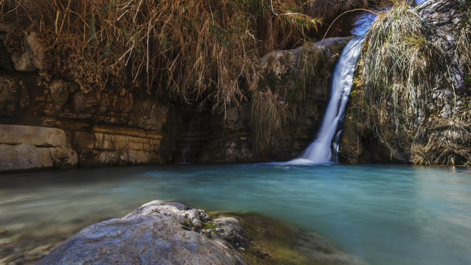 David and his men stayed in Ein Gedi and certainly enjoyed the fresh water falling from the Desert plateau above. There are several waterfalls of differing sizes that make there way down to the Dead Sea below