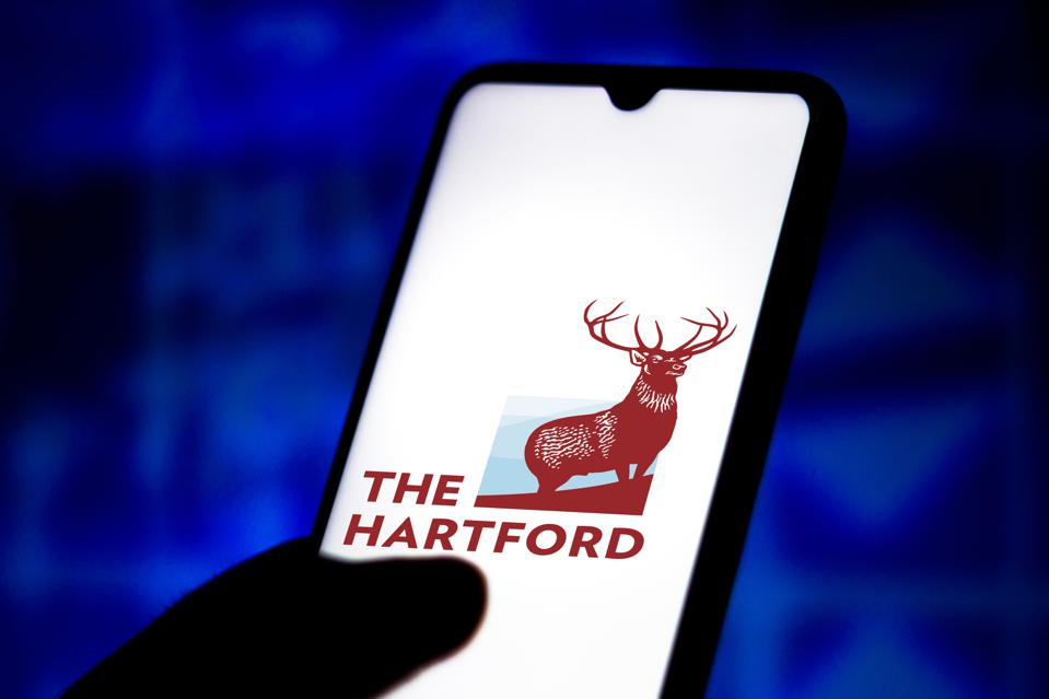 In this photo illustration the Hartford Financial Services...
