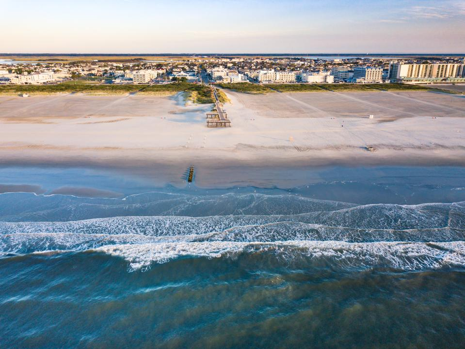 Aerial city view the wildwoods