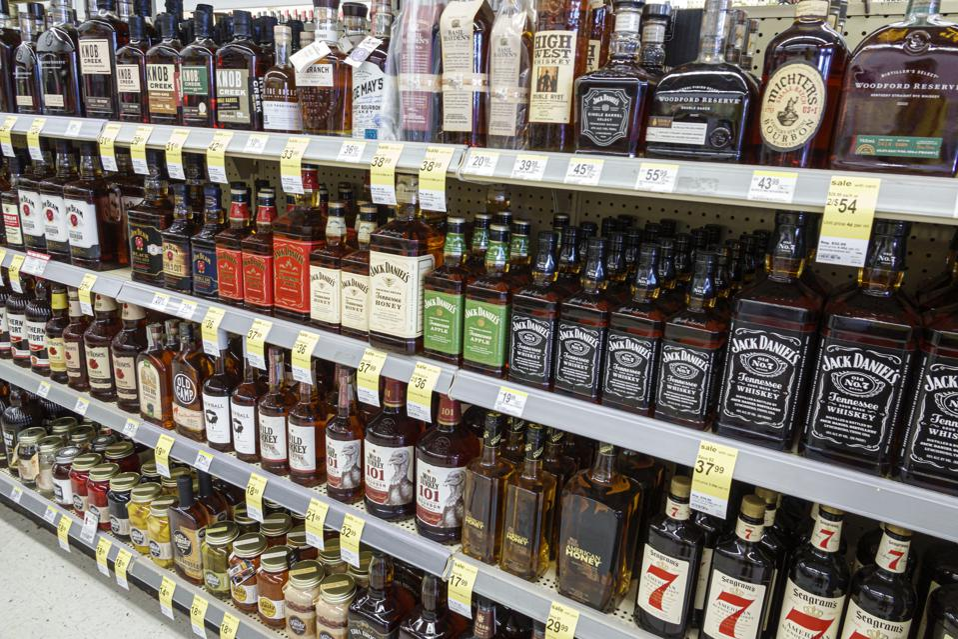 Florida, Miami Beach, Walgreens liquor store, Jack Daniel's, whiskey