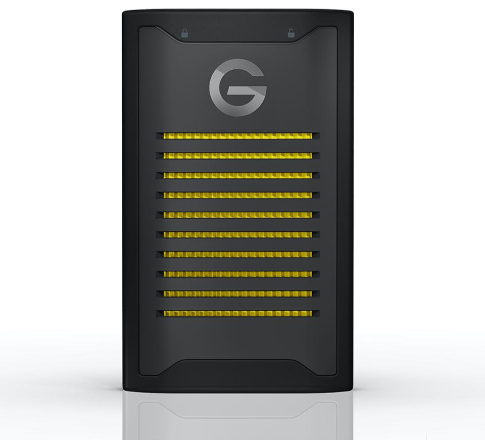 Shot of G-Technology ArmorLock NVMe 2TB drive