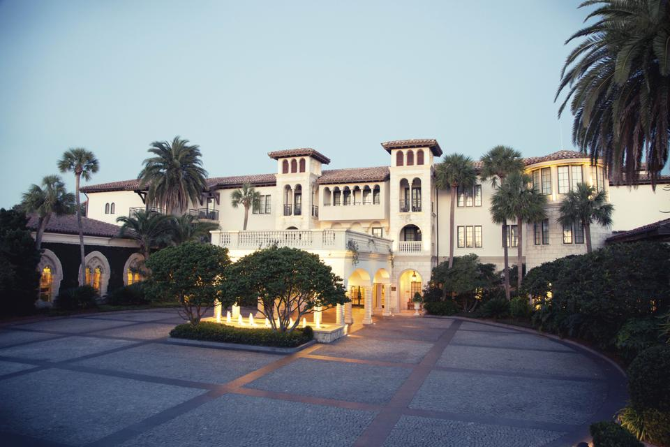 The luxurious hotel at Sea Island.