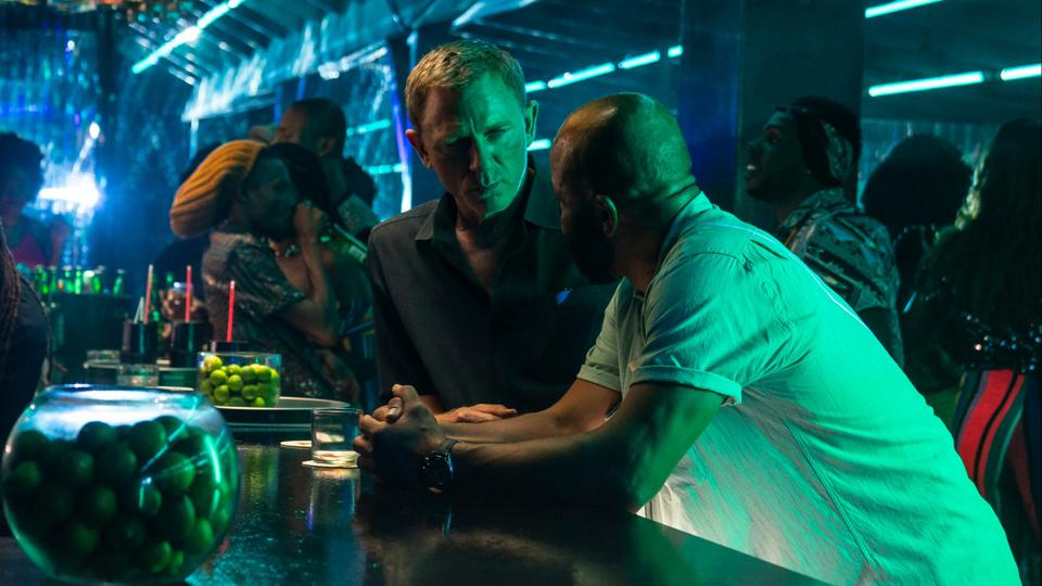 Daniel Craig and Jeffrey Wright in 'No Time to Die'