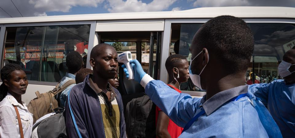 Preventative measures against COVID-19 in Rwanda.