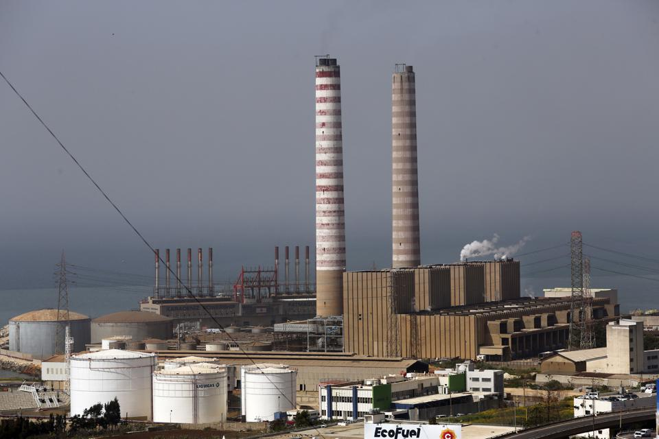 Two power plants and a power barge in Lebanon