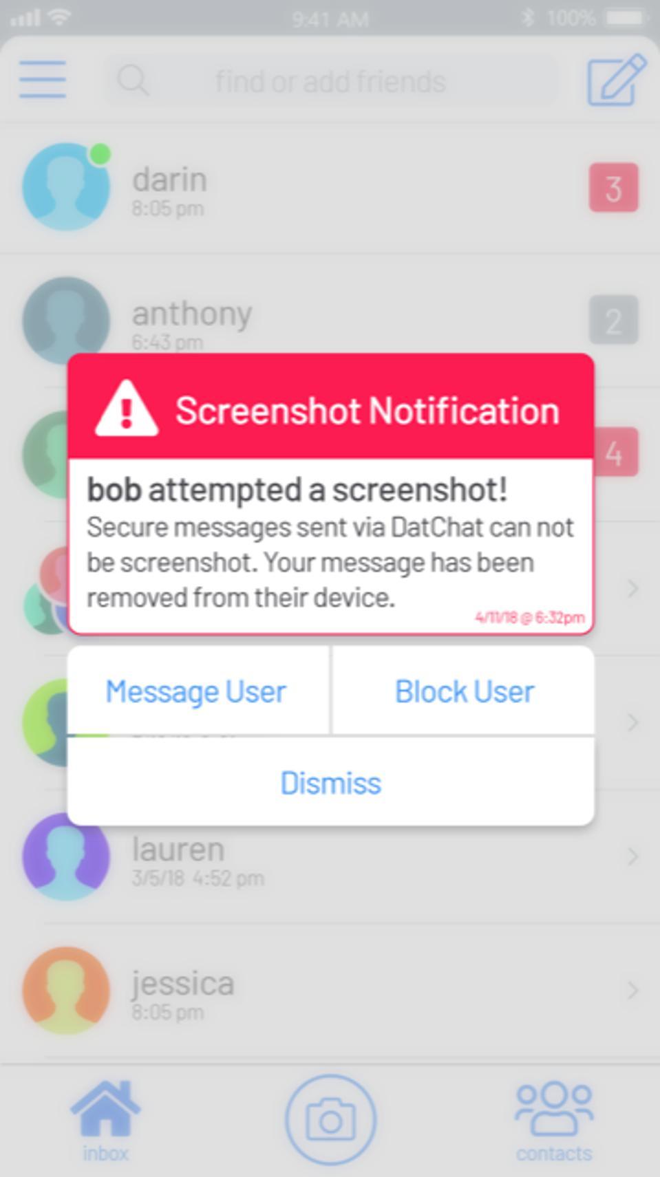 Screenshot Notification