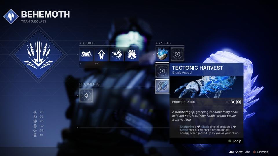 Destiny 2 Reveals Even More Subclass Modifiers New Titan Stasis Details