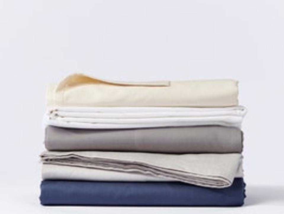 Coyuchi 300 Thread Count Organic Sateen Sheet Set, Queen