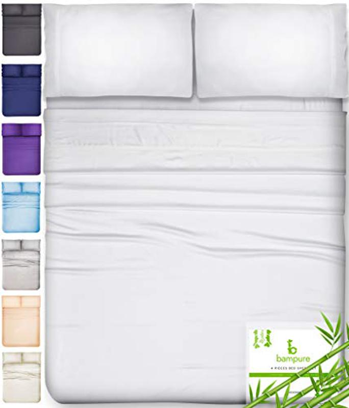 BAMPURE 100% Organic Bamboo Sheets, Queen