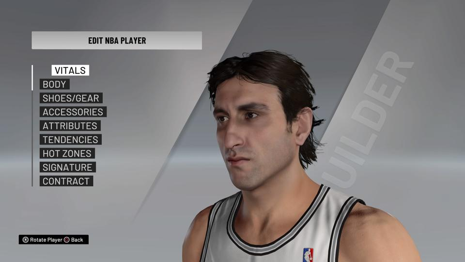 Manu Ginobili in NBA 2K21