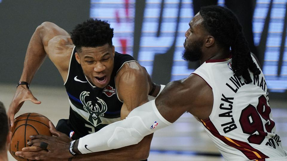 Giannis Antetokounmpo in Game 2 of the Eastern Conference Semifinals