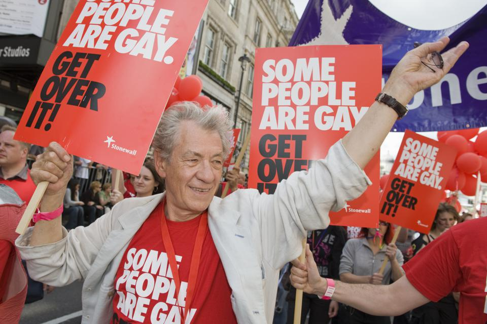 Gay Pride London 2008 UK. Sir Ian McKellan
