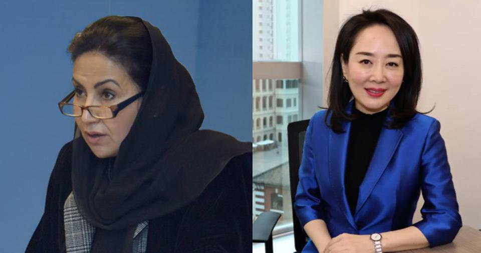 Mansour Al-Dakheel (left) and Diane Wang (right), from Saudi Arabia and China respectively, have been leading taskforces at B20.