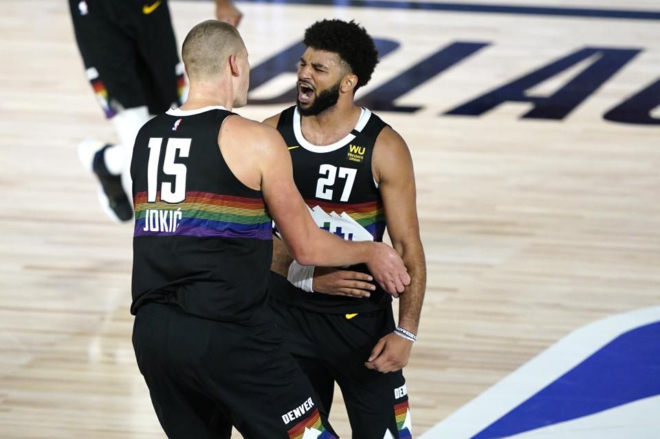 Utah Jazz v Denver Nuggets - Game One Nikola Jokic Jamal Murray NBA Playoffs