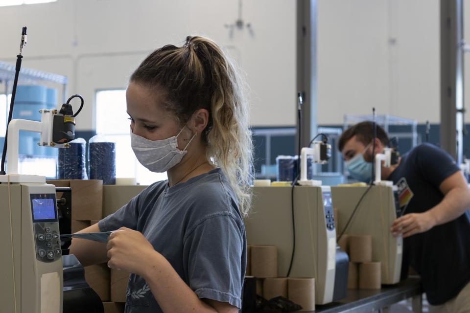Metrc employees at work in Lakeland, FL.
