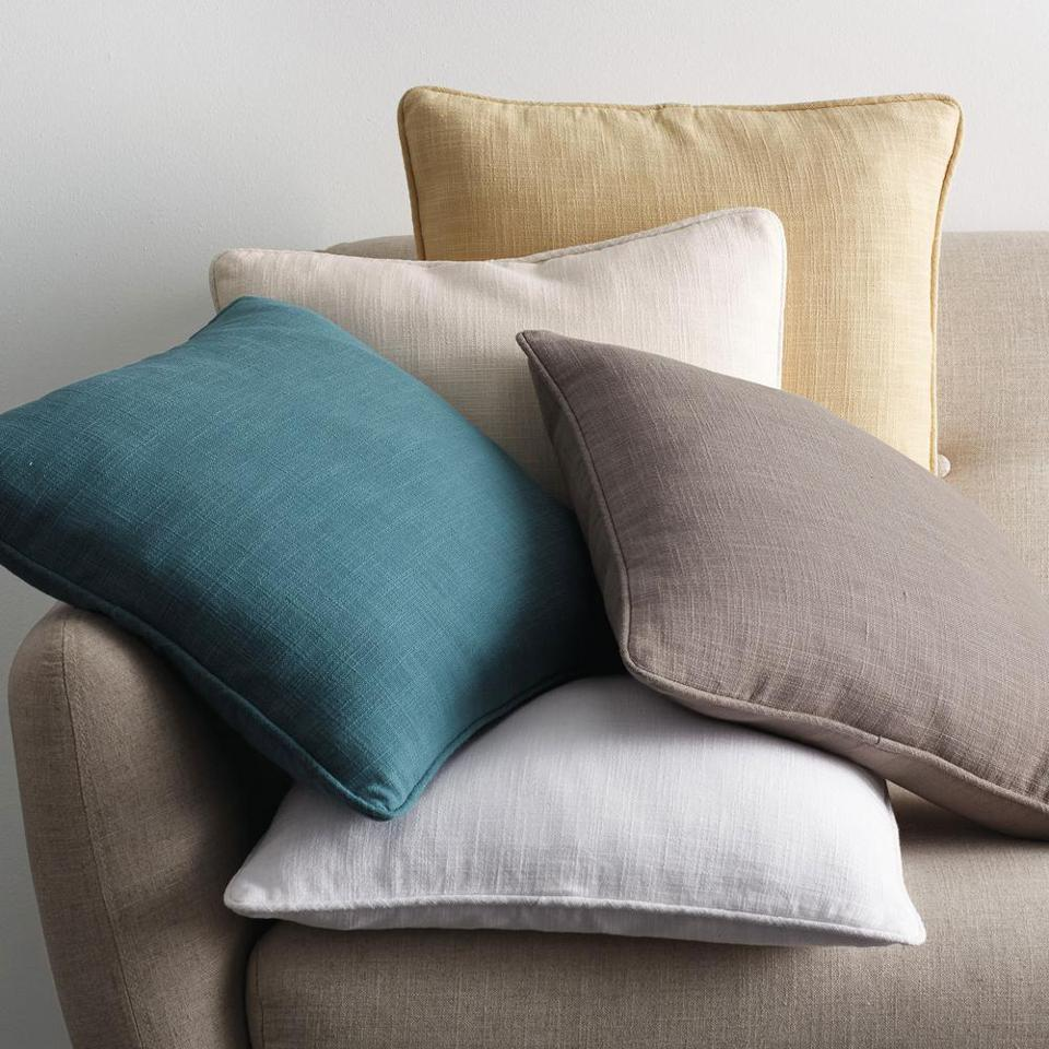 The Company Store Concord Cotton Twill Solid Euro Throw Pillow Cover