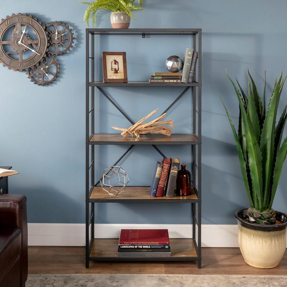 Walker Edison 4-Shelf Etagere Bookcase