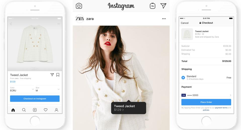 Instagram launches shopping checkout