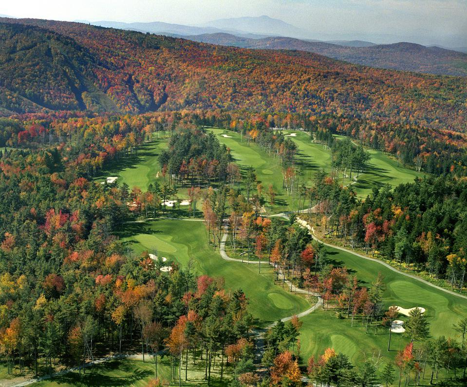 Aerial view of Montcalm Golf Club in New Hampshire
