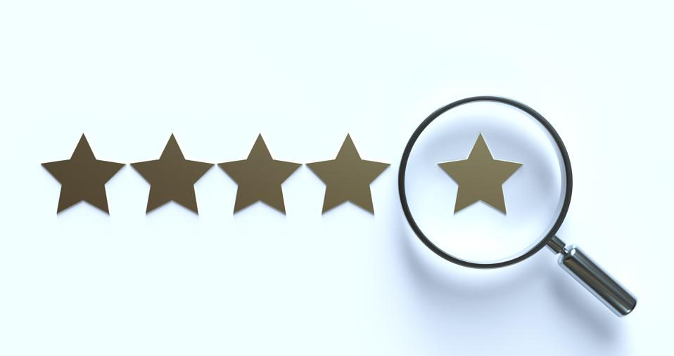 5 Star Ranking Formed  magnifying glass