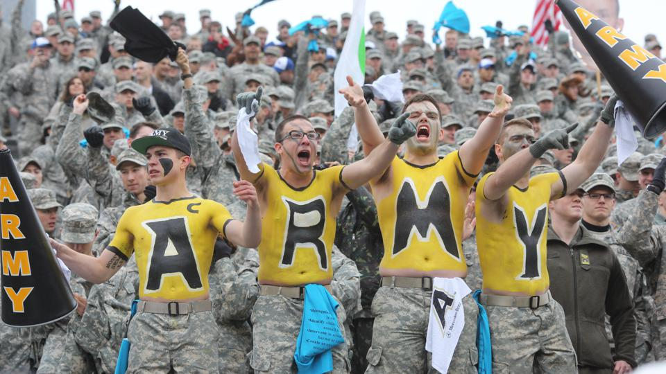 West Point's corps of cadets during a game against Air Force.