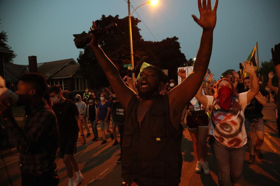 4th night of protests aftermath of Kenosha shooting