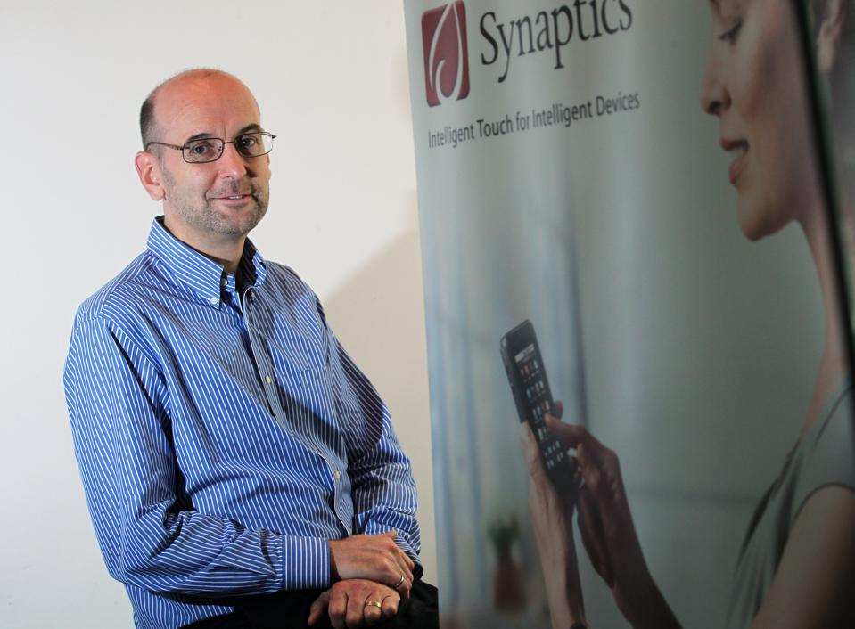 Shawn Day, Vice President-Technology of Synaptics, poses for photos at Central. 26AUG13