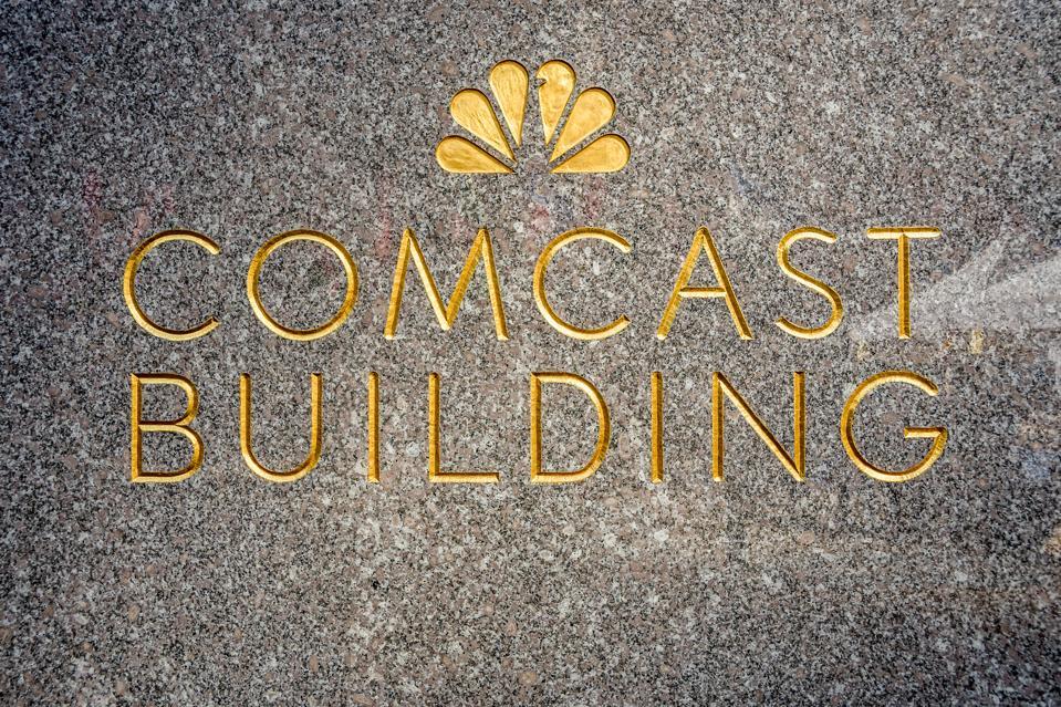 Comcast Building at Rockeffeler Plaza, NBC Headquarters in...
