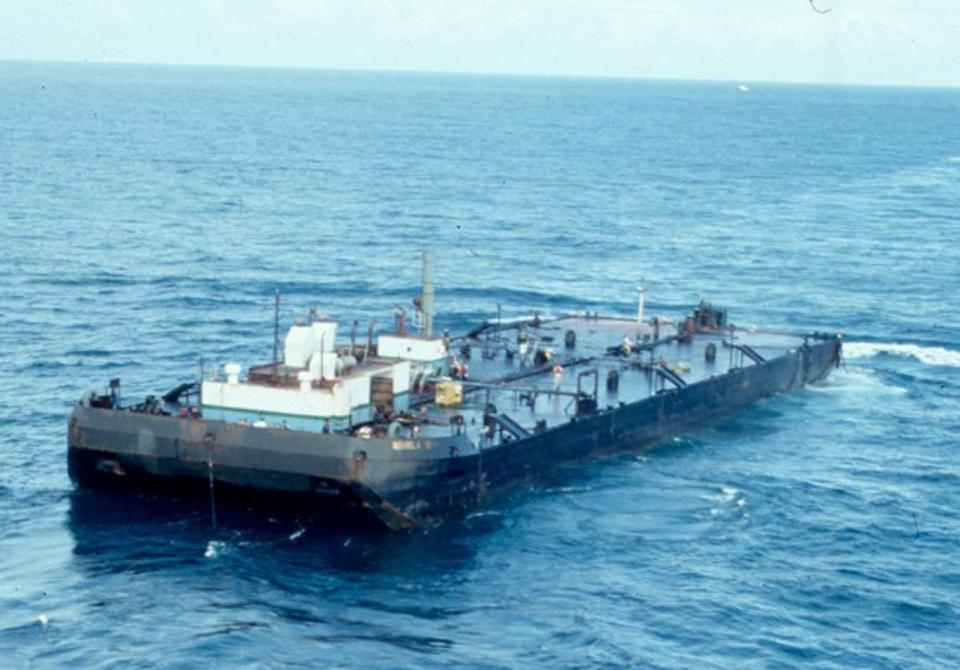 1994: oil barge, the MJ Berman was deliberately sunk off Puerto Rico, but this led to a secondary oil spill