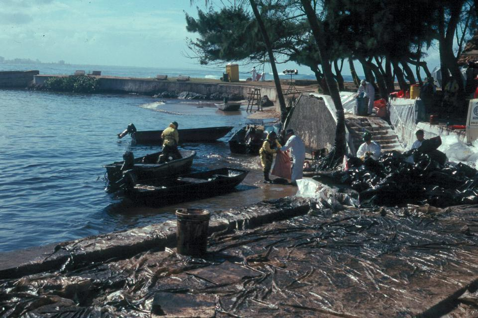 1994: Aftermath of sinking the MJ Berman off the coast of Puerto Rico