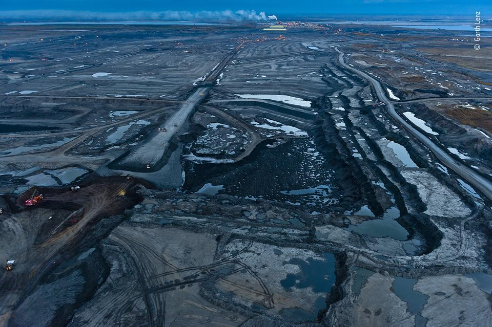 Twilight in desolation at the Alberta tar sands