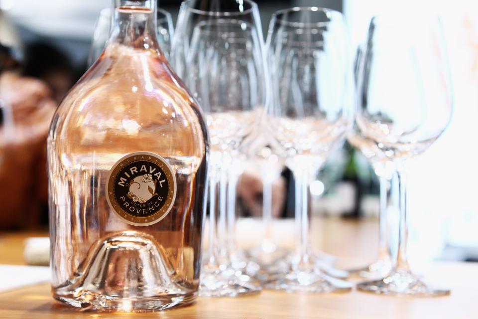 A Miraval bottle of rosé wine