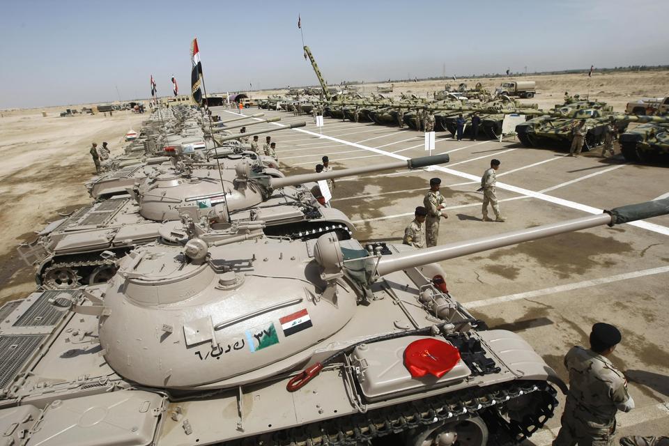 Refurbished Russian made T-55 tanks (L)