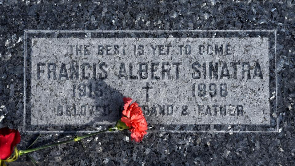 Singer Frank Sinatra's grave in California