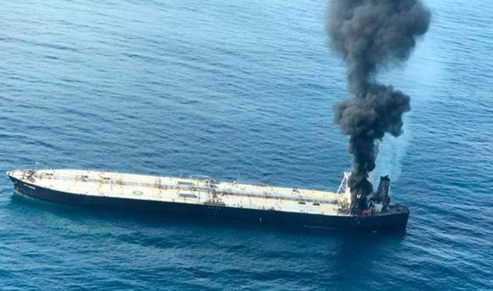 3 September 2002: fire breaks out oil supertanker carrying 2 million barrels of oil passing through Sri Lankan waters.