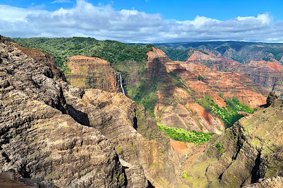 Kauai's Waimea Canyon, where Elaine Schaefer and her husband Jack staycationed.
