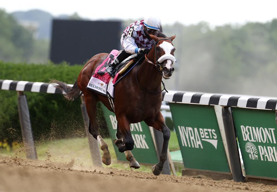 Tiz the Law at the 152nd Belmont Stakes