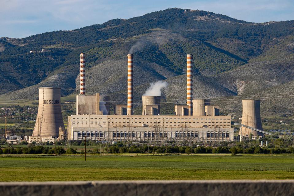 Agios Dimitrios Power Plant In Greece
