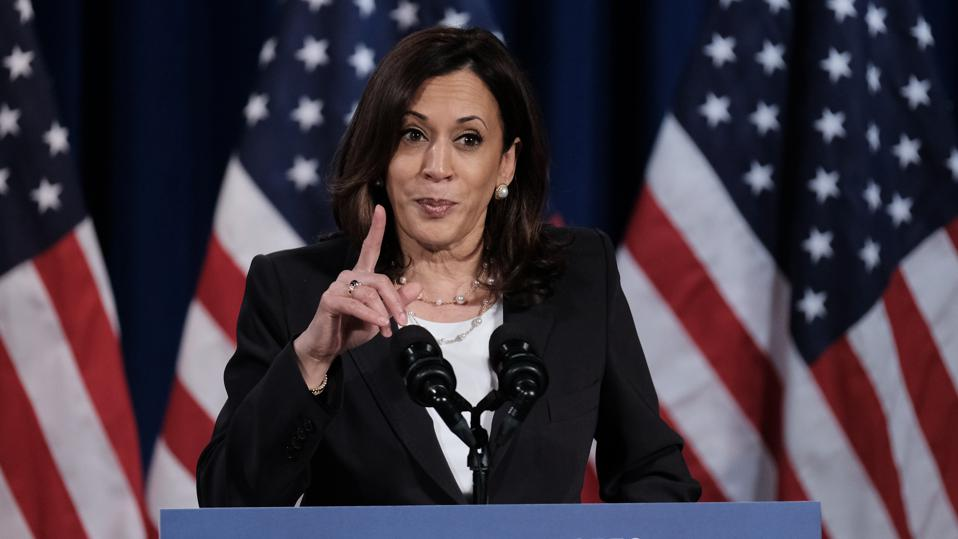 Vice Presidential Candidate Kamala Harris Delivers Remarks In Washington DC