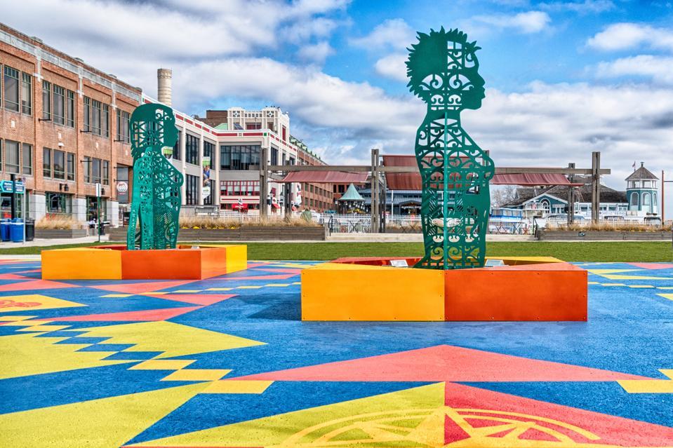 art Olalekan Jeyifous Wrought, Knit, Labors, Legacies Waterfront Park Alexandria Virginia