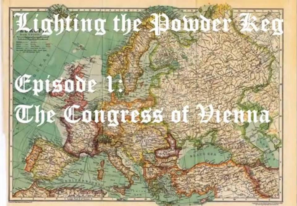 Map from the Congress of Vienna