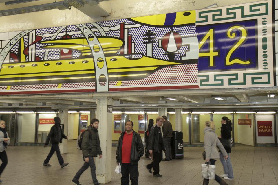 Roy Lichtenstein Times Square Station mural.